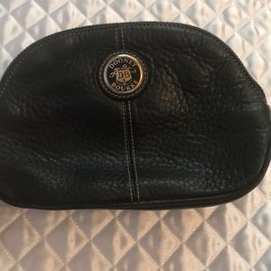 Dooney and Bourke Brown leather make up bag